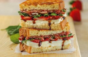 Galbani Strawberry Basil Prosciutto Grilled Cheese