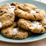 Marshmallow Stuffed Smores Cookies