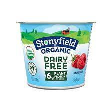 Stonyfield Dairy Free Raspberry Yogurt