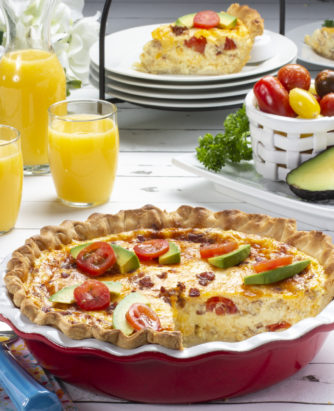 MFTK Bacon and Tomato Quiche