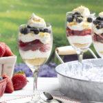 MFTK Star Spangled No-Bake Cheesecake Parfaits