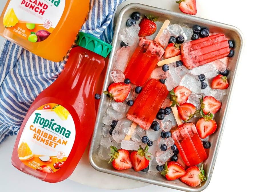 Tropicana Frozen Berry Pops