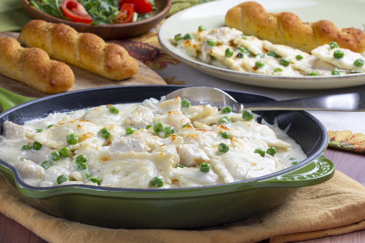 MFTK Creamy Chicken & Ravioli Skillet