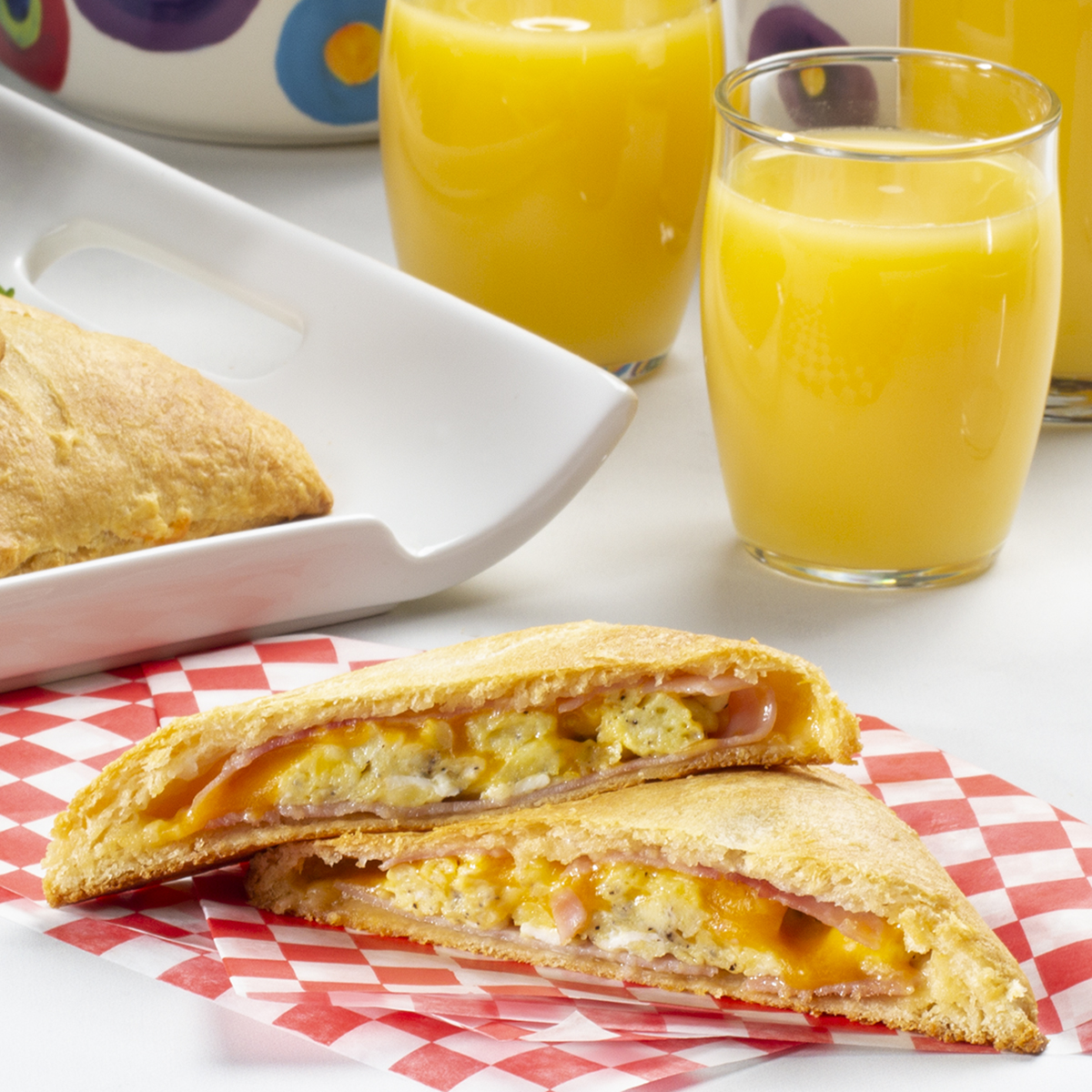 Ham & Cheese Breakfast Pockets