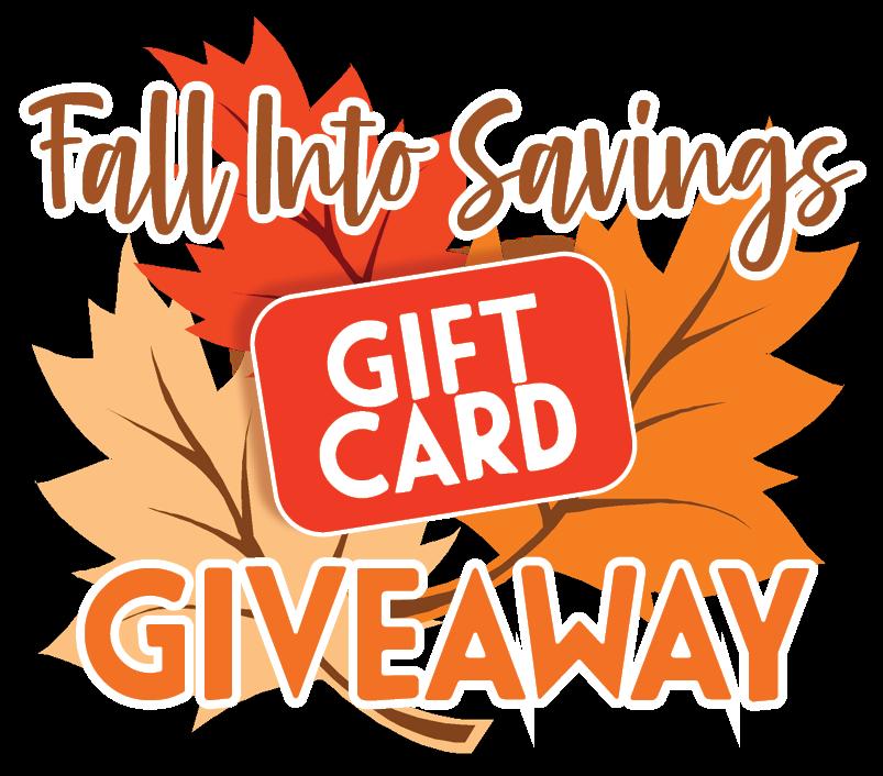 Fall Into Savings Giveaway Logo